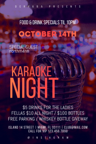 Karaoke Night Bar Poster Flyer Template Plakkaat