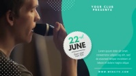 Karaoke Night Club Event Facebook Cover Video