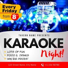 Karaoke Night Club Event Square Video