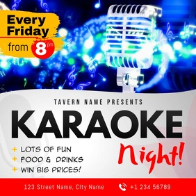 Karaoke Night Club Event Square Video