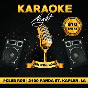 KARAOKE NIGHT CLUB FLYER TEMPLATE