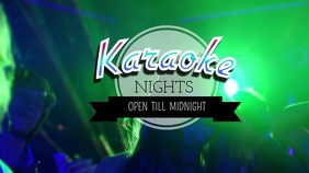 kARAOKE NIGHT Tampilan Digital (16:9) template