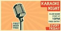karaoke night Gambar Bersama Facebook template