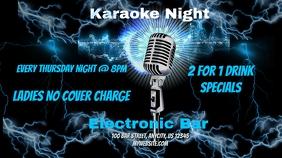 Karaoke Night Post di Twitter template