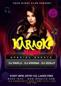 Karaoke Night A4 template