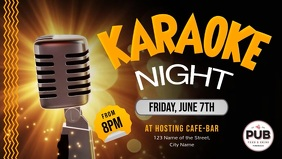 Karaoke Night Event Facebook Cover Video template