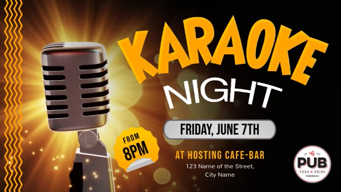 Karaoke Night Event Facebook Cover Video