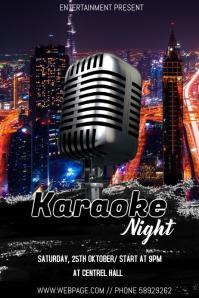 Karaoke night event flyer