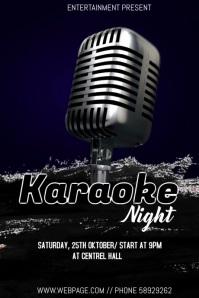 Karaoke night event flyer Poster template