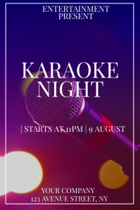 Karaoke night event flyer template