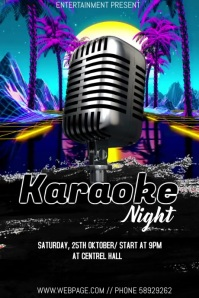 Karaoke night event video flyer template