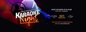 Karaoke Night Facebook Cover Photo template