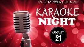 Karaoke night facebook cover video template