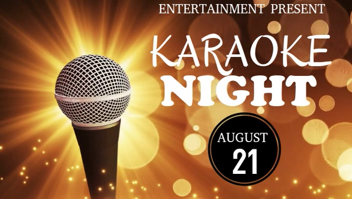 karaoke night facebook cover video template Facebook-covervideo (16:9)