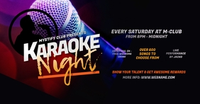 Karaoke Night Facebook Shared Image template