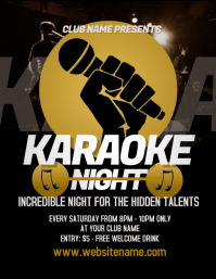 Karaoke Night Flyer