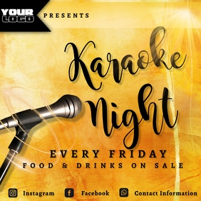 Karaoke Night Flyer Pos Instagram template