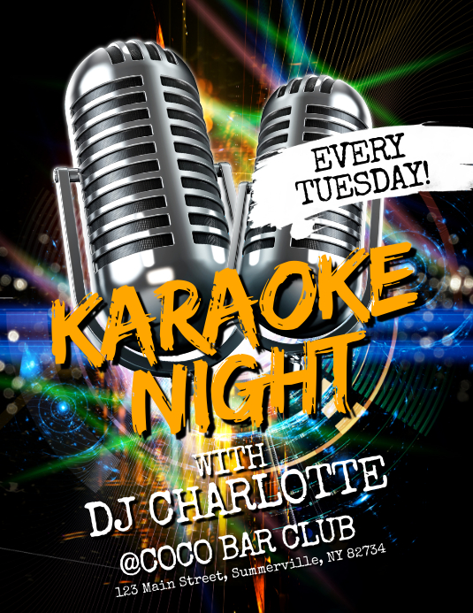 Karaoke Night Flyer Pamflet (VSA Brief) template