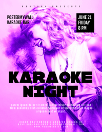 Karaoke Night Flyer Poster Template