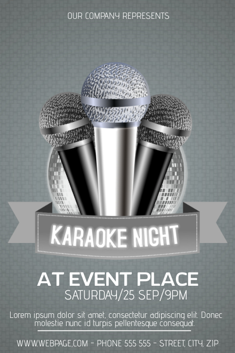 Karaoke Night Poster Template