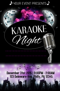 100+ Customizable Design Templates For U0027Karaoke Night Flyeru0027