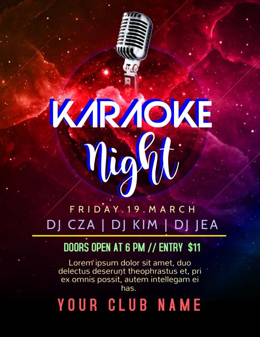 Karaoke Night Template | PosterMyWall