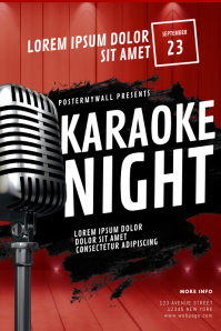 Karaoke Night Flyer Template Plakat