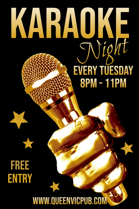 Karaoke Night Flyer Template Poster