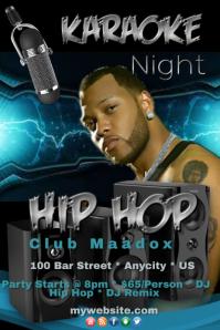 Karaoke Night Hip Hop Template