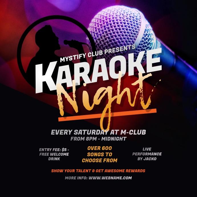 Karaoke Night Instagram Post template