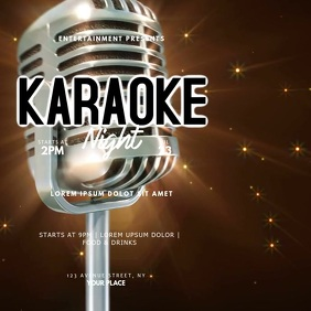 Karaoke Night Instagram Video Ad Template