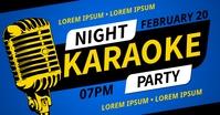 KARAOKE NIGHT PARTY BANNER Imagem partilhada do Facebook template