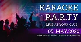 KARAOKE NIGHT PARTY EVENT AD TEMPLATE Gambar Bersama Facebook
