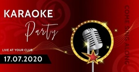 Karaoke Night Party Event Ad Template Image partagée Facebook