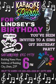 Karaoke Night Party Invitation