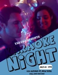 Karaoke Night Poster Volante (Carta US) template