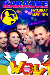 karaoke night poster flyer template