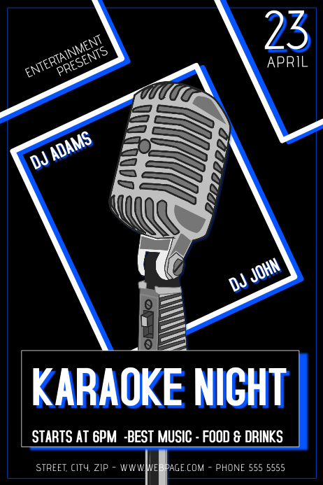 Karaoke Night Flyer Template  Postermywall
