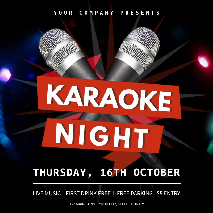 Karaoke Night Square Video