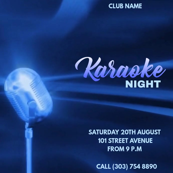 KARAOKE NIGHT TEMPLATE