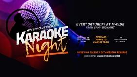 Karaoke Night Twitter Post template