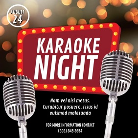 Karaoke Night Video Ad โพสต์บน Instagram template