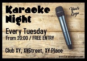 Karaoke Night Wood Table Cover