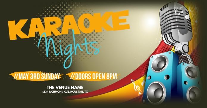 Karaoke Nights Imagen Compartida en Facebook template