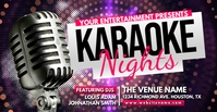 Karaoke Nights Facebook Event Cover Facebook-Veranstaltungscover template