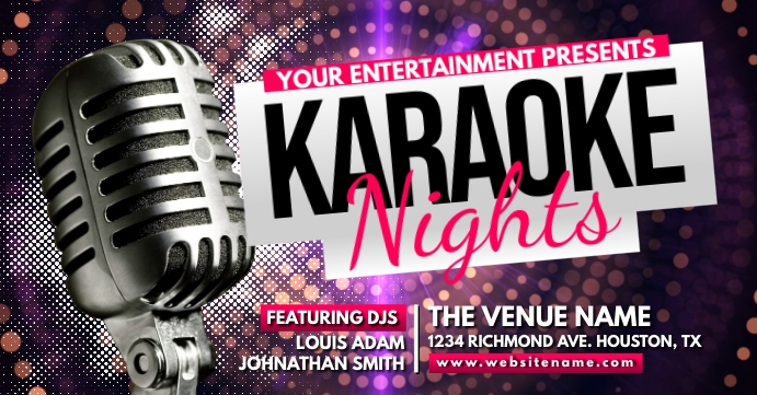 Karaoke Nights Facebook Event Cover template