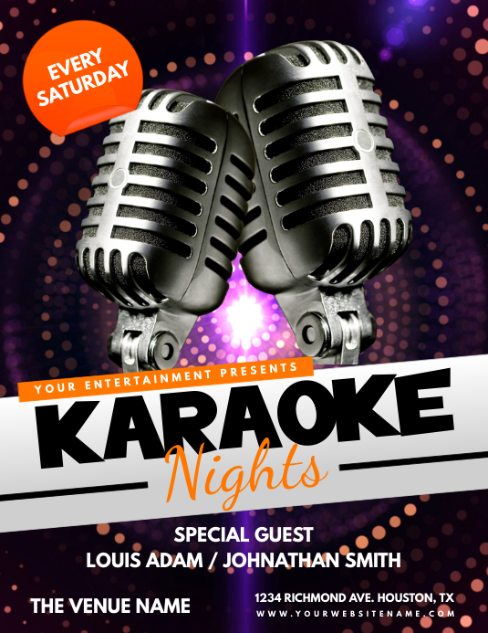Karaoke Nights Flyer Template  Postermywall