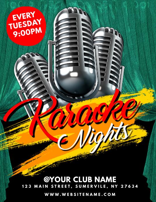 Karaoke Poster Templates Postermywall