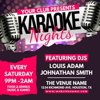 Karaoke Nights Instagram Post Instagram-bericht template