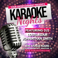 Karaoke Nights Instagram Post Wpis na Instagrama template